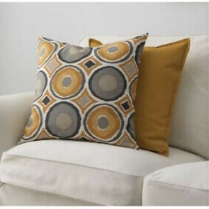 IKEA 2 cushion cover pillow accent pillow yellow